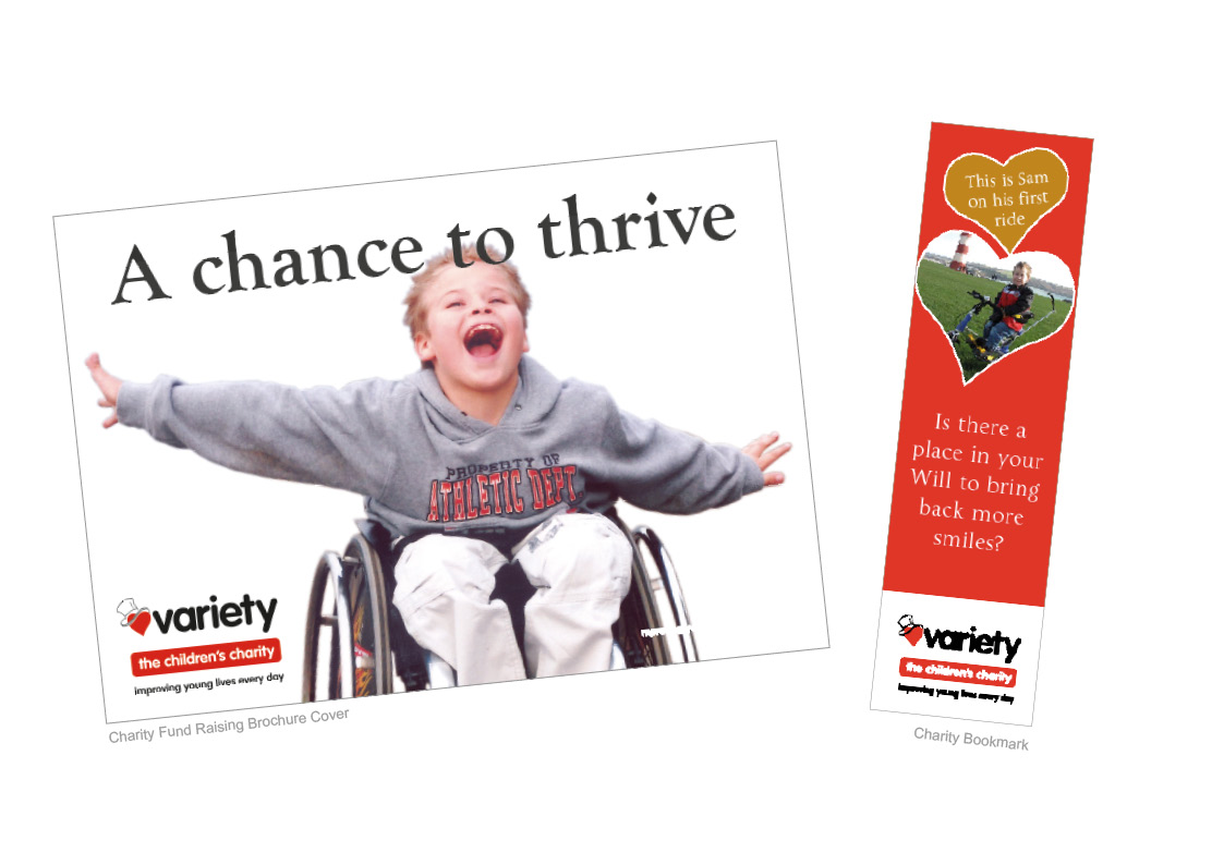 Variety The Children's Charity Brochure, Christmas Card and Bookmark